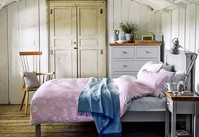 Impello french grey painted bedroom furniture