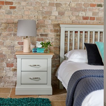 lusso grey painted bedroom furniture