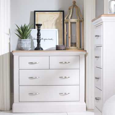 Pantone painted bedroom furniture
