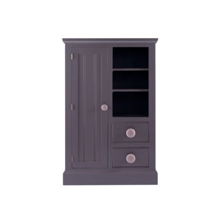 Children's bedroom furniture wardrobe with bookcase and drawers