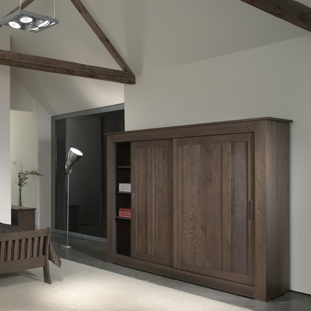 Quercus Solid Oak Sliding Door Wardrobe 2 4m Con Tempo