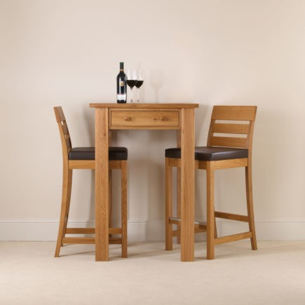 kitchen solid oak tall breakfast tables