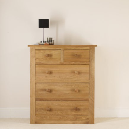 quercus solid oak bedroom furniture 2+3 oak chest of drawers