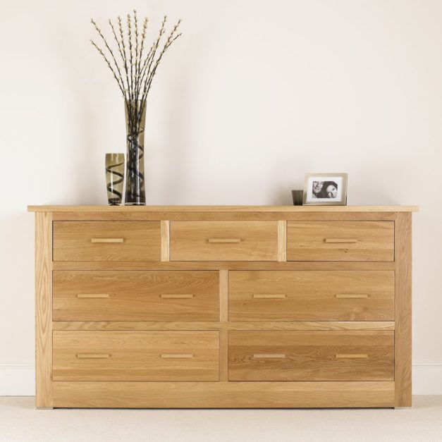 quercus solid oak bedroom furniture oak 4+3 chest of drawers