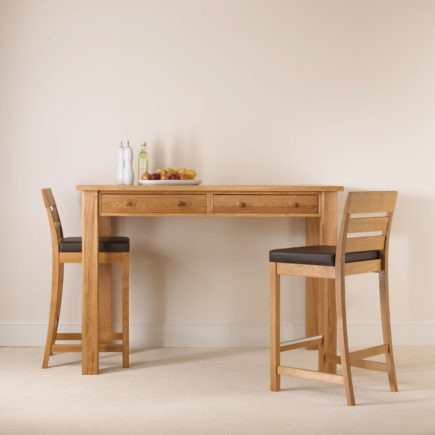 quercus solid oak tall breakfast tables