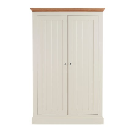 impello ivory painted bedroom furniture large all hanging wardrobe with oak tops