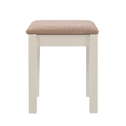 Ivory painted bedroom stool
