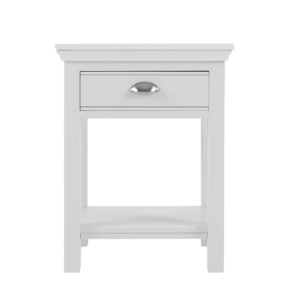 Nouveau white painted bedside table con tempo furniture for White side table