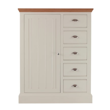 Impello ivory painted bedroom large chest with handing