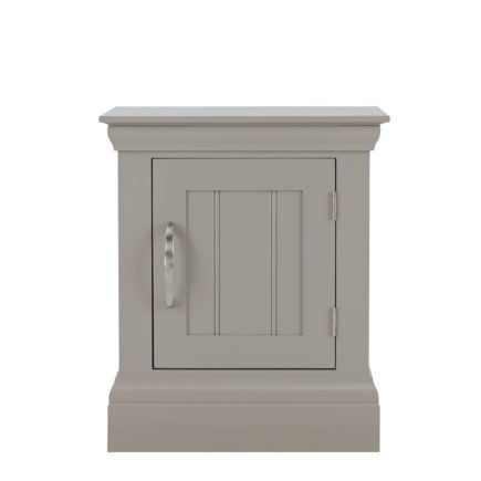lusso grey painted bedroom furniture bedside table with door