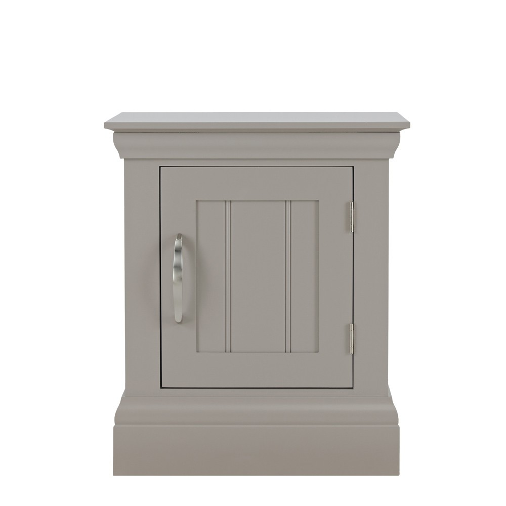 Lusso Grey Painted Bedroom Furniture Small Bedside Table