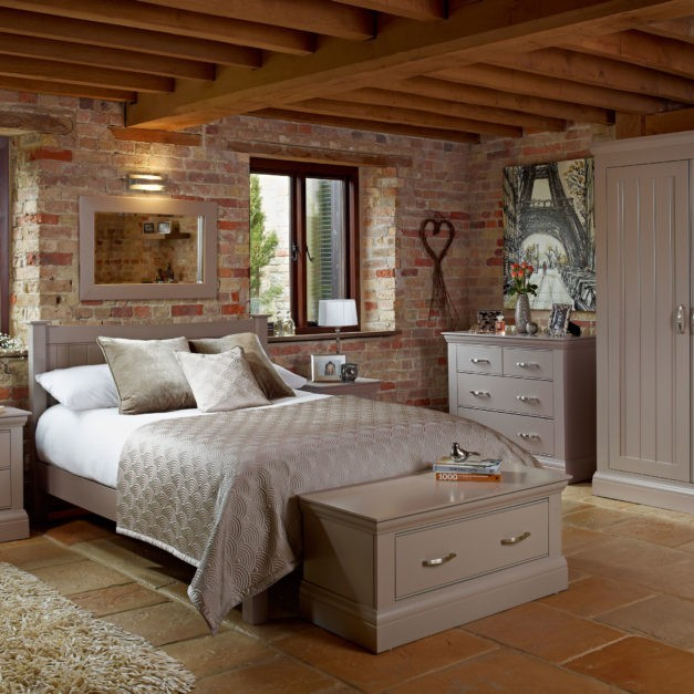 lusso painted bedroom furniture french grey