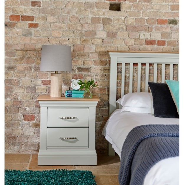 lusso frecce grey painted bedroom furniture small bedside table with oak top