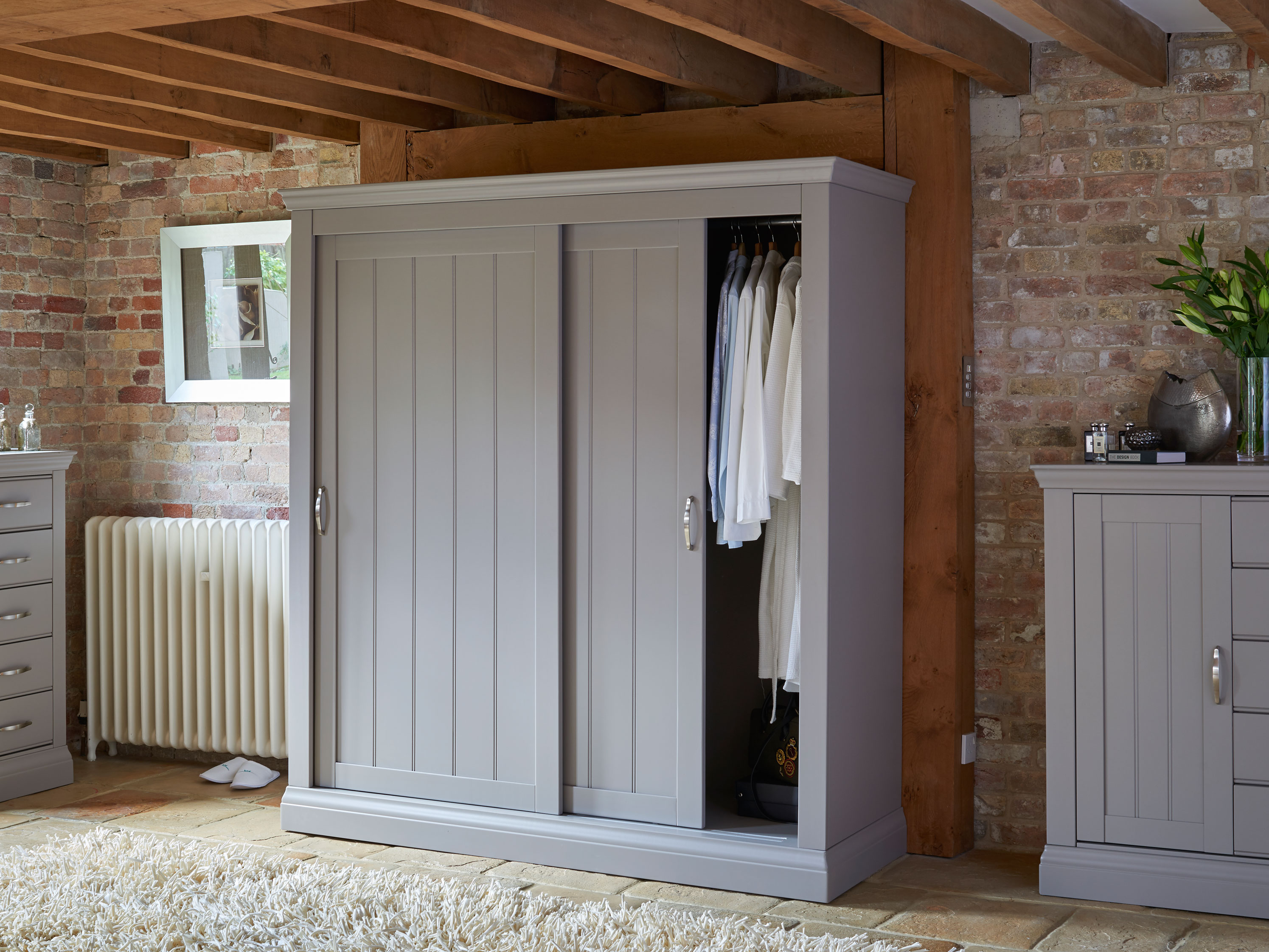 Lusso Customisable Wardrobe With Drawers 1 2m Con Tempo