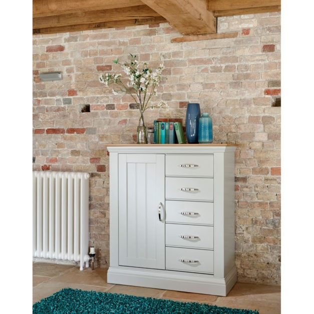 lusso french grey painted bedroom furniture gents chest