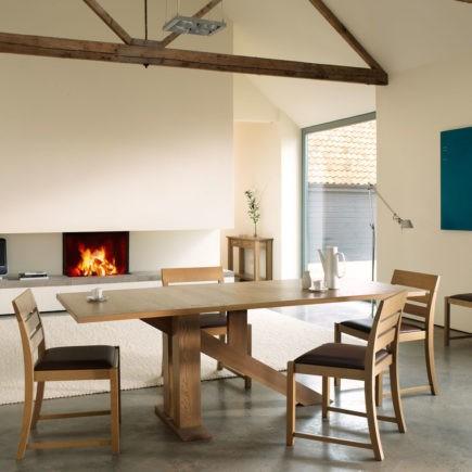 quercus contemporary oak dining room furniture Venice oak dining tables
