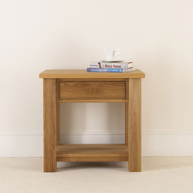new product 42b3b 42e99 Quercus Solid Oak Bedside Table