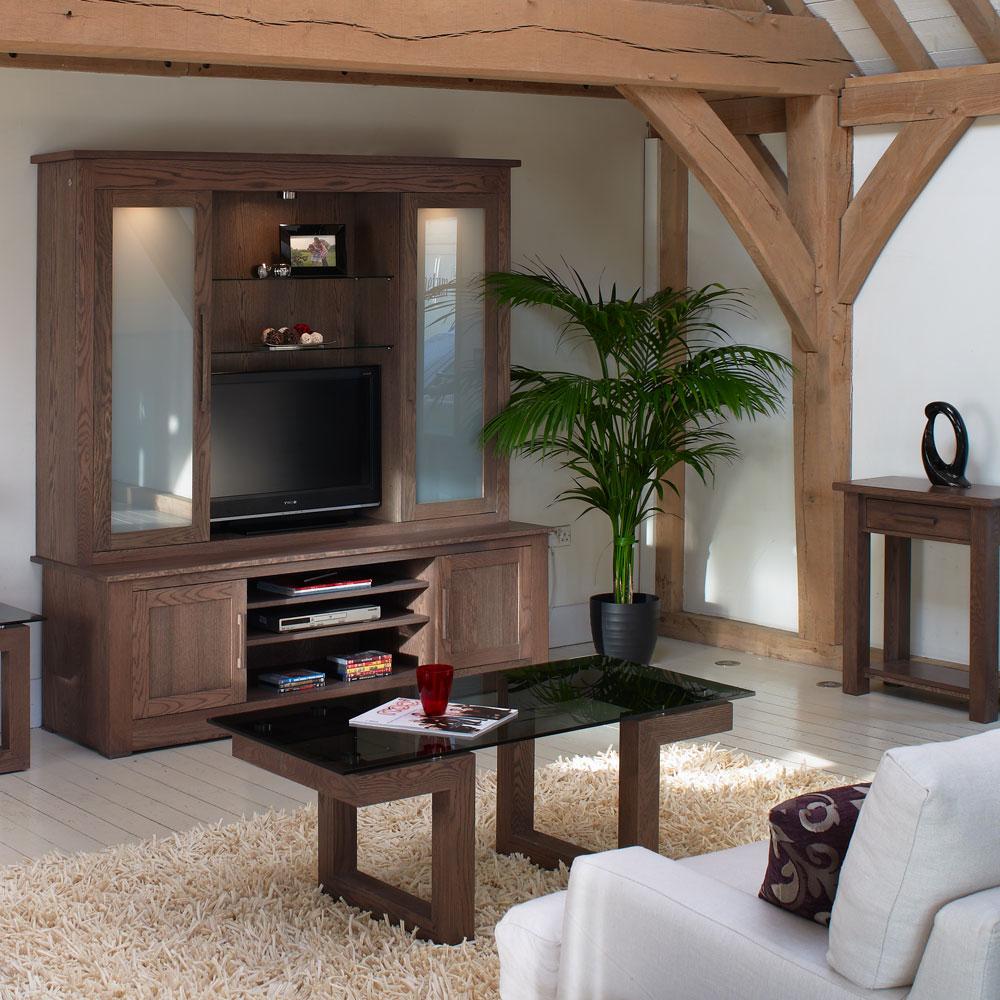 Primo Solid Oak Glass Coffee Tables Con Tempo Furniture