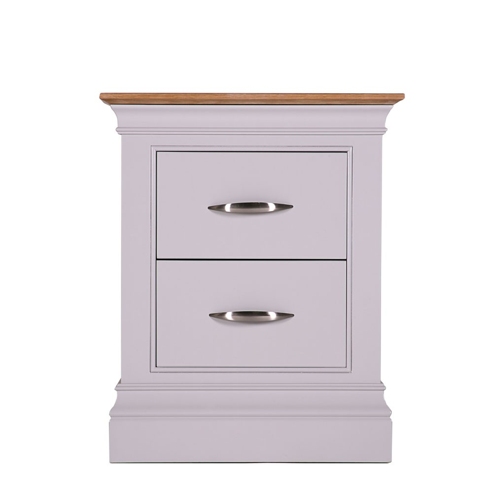 Vienna Painted Small 2 Drawer Bedside Table Con Tempo