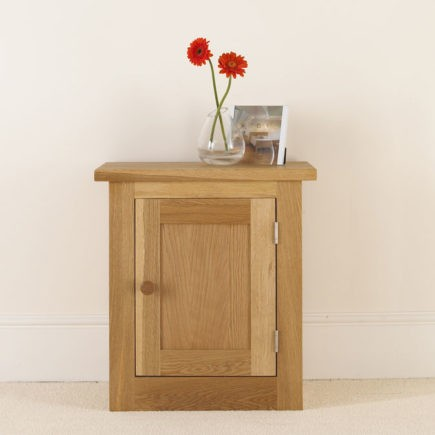 quercus solid oak bedroom furniture bedside table with door