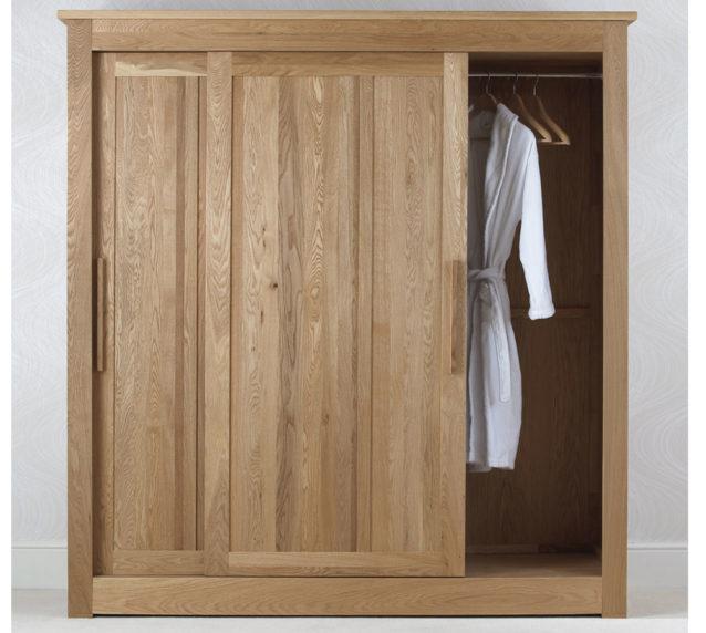Oak bedroom furniture sliding door wardrobes