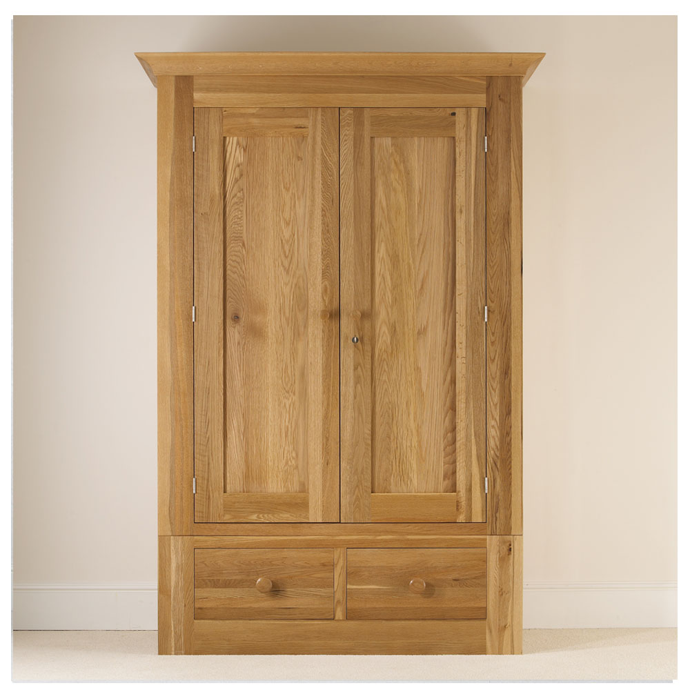 quercus solid oak ladies wardrobe con tempo furniture. Black Bedroom Furniture Sets. Home Design Ideas