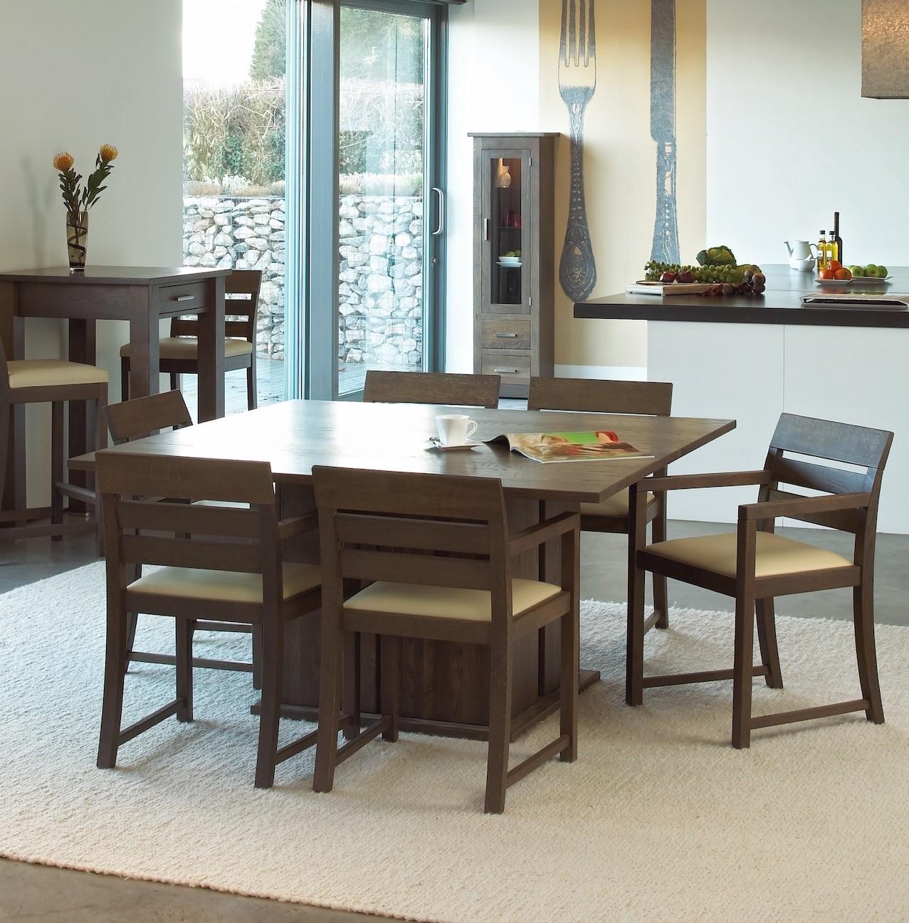 Quercus Oak 5 5 Square Dining Table Con Tempo Furniture