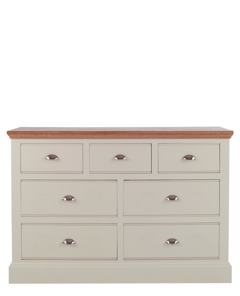 Impello Ivory Painted 4 3 Chest Of Drawers Con Tempo Furniture