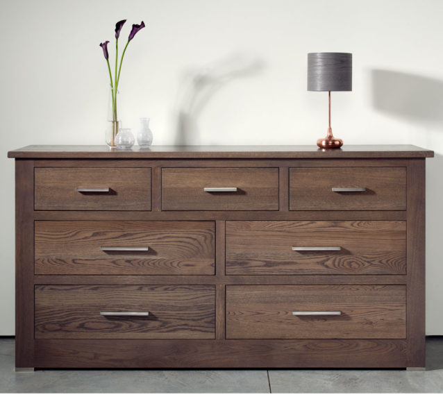 Contemporary solid oak bedroom furniture