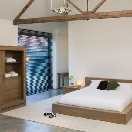 quercus solid oak low line bed