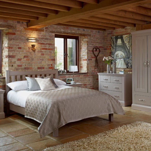 Lusso french grey painted bedroom furniture