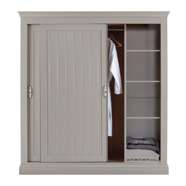 Lusso grey painted sliding door wardrobes