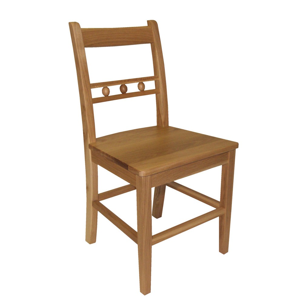 Oak ball back dining chair for Oak dining chairs