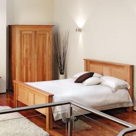 quercus oak bedroom furniture oak panelled bed