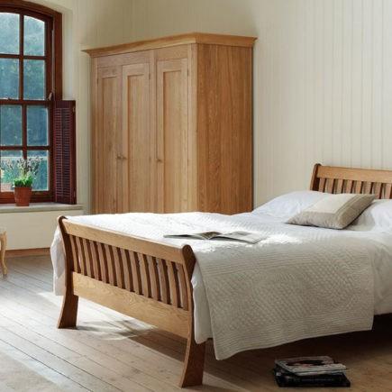 quercus solid oak paris bed