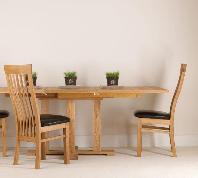 quercus solid oak extending pedestal tables