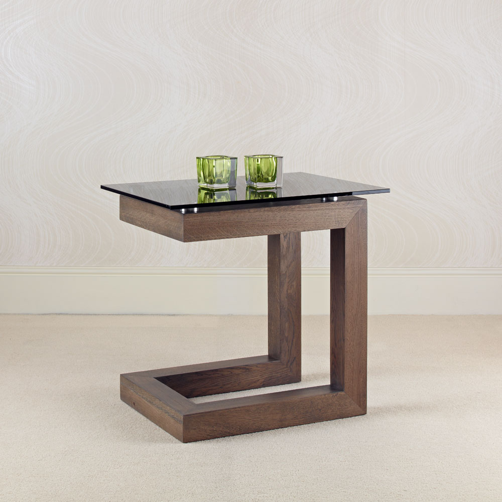 Primo solid oak glass lamp table con tempo furniture contemporary oak and glass side tables aloadofball Gallery