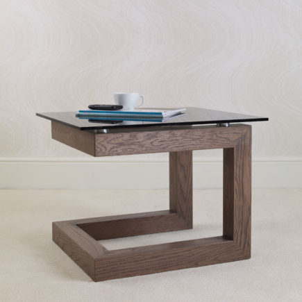 contemporary oak and glass coffee tables
