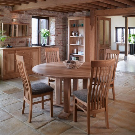 quercus solid oak round dining tables