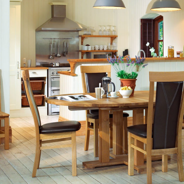 quercus oak dining room tables large round extending tables