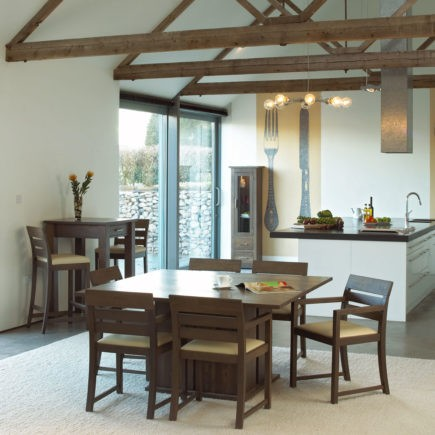 quercus contemporary oak dining room furniture square oak tables