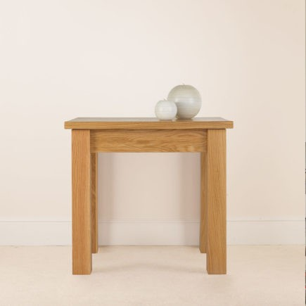 quercus solid oak side table