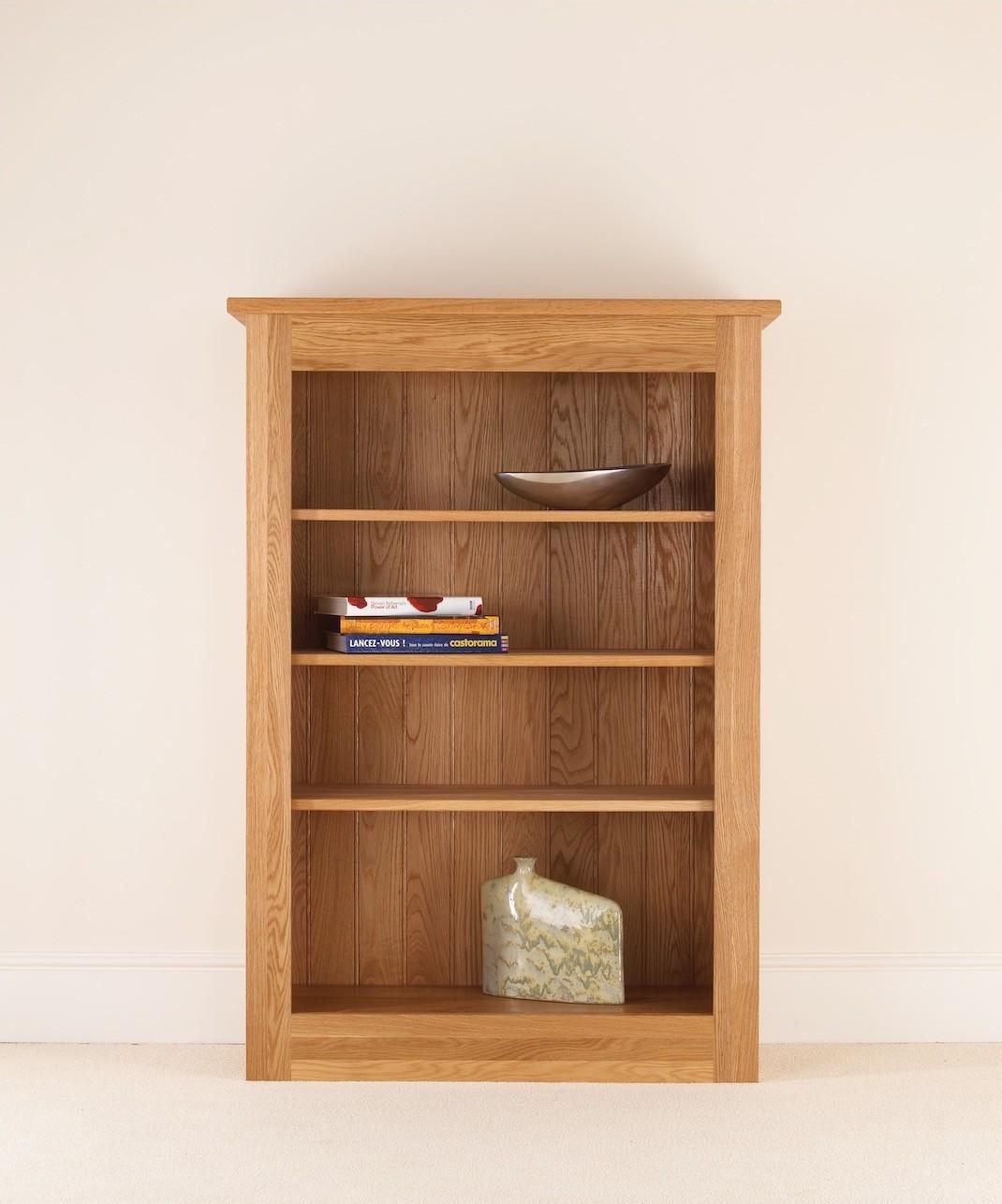 Quercus Solid Oak Bookcase 54 38 12