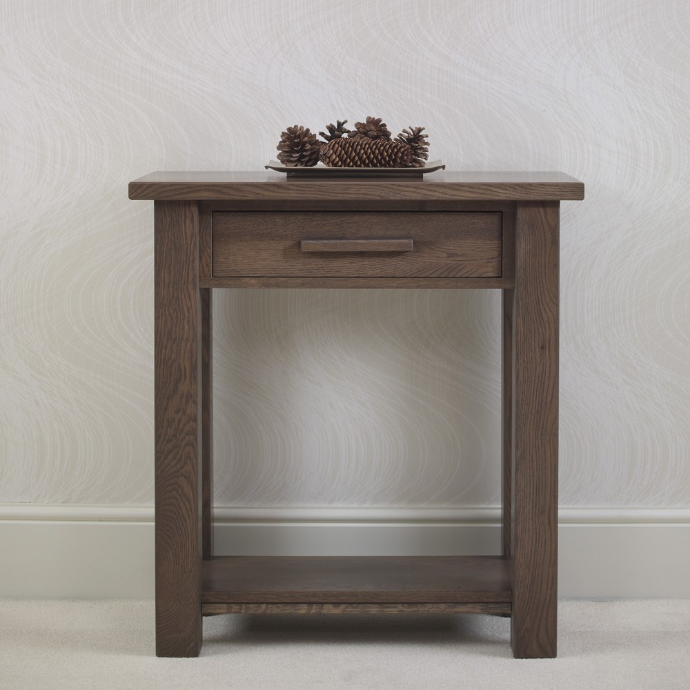 Foyer Table Uk : Quercus solid oak console table