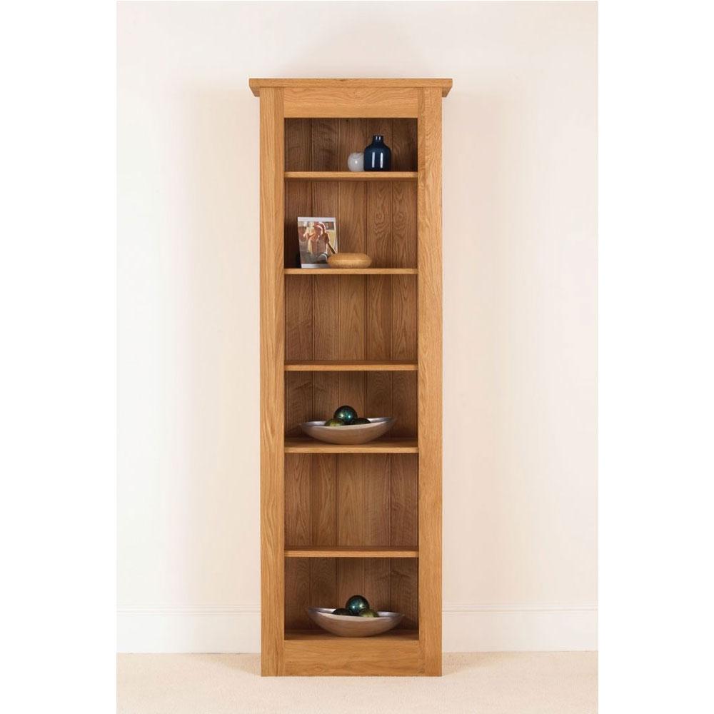 Quercus Solid Oak Bookcase 78 26 12 Con Tempo Furniture