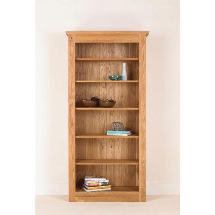 quercus solid oak bookcase 78-38