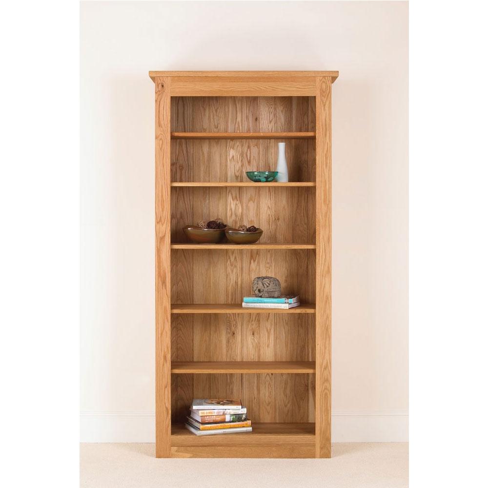 Quercus Solid Oak Bookcase 78 38 12 Con Tempo Furniture