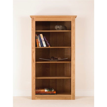 quercus solid oak bookcase