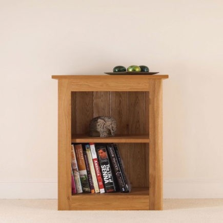 quercus solid oak small bookcase