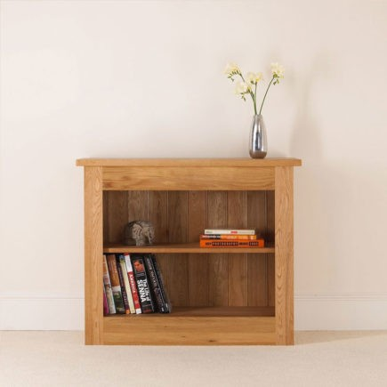 quercus solid oak bookcase with adjustable shelves